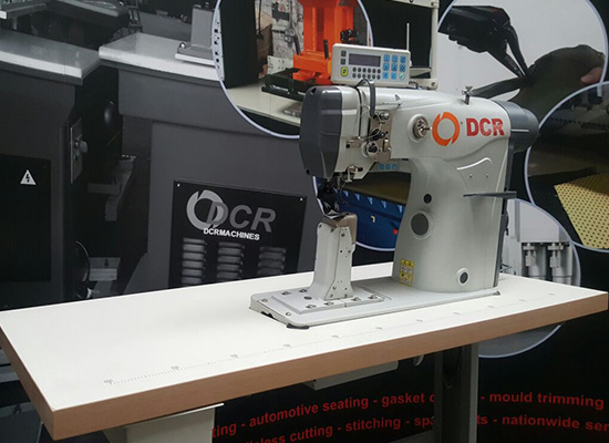 Photo of an DCR PB2- industrial Twin Needle Post Bed sewing machine Industrial Sewing Machines