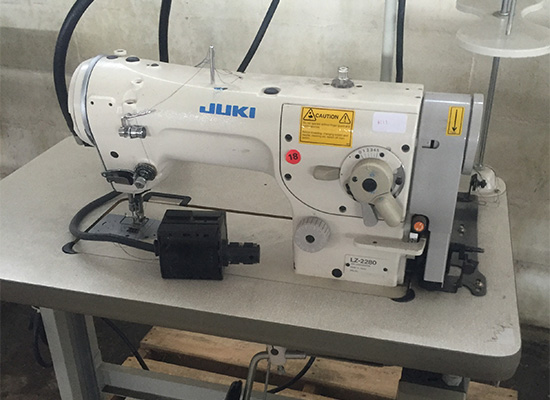 Photo of an JUKI LZ2280 industrial ZIG ZAG sewing machine Industrial Sewing Machines