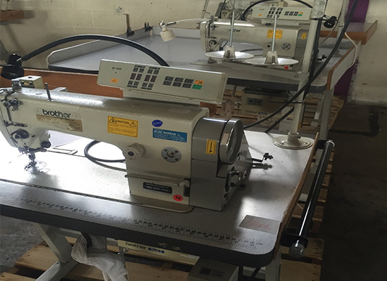 Photo of an Brother Exedra computer controlled single needle industrial sewing machine Industrial Sewing Machines