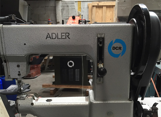 Photo of an Adler 205R heavy duty cylinder arm industrial sewing machine  Industrial Sewing Machines