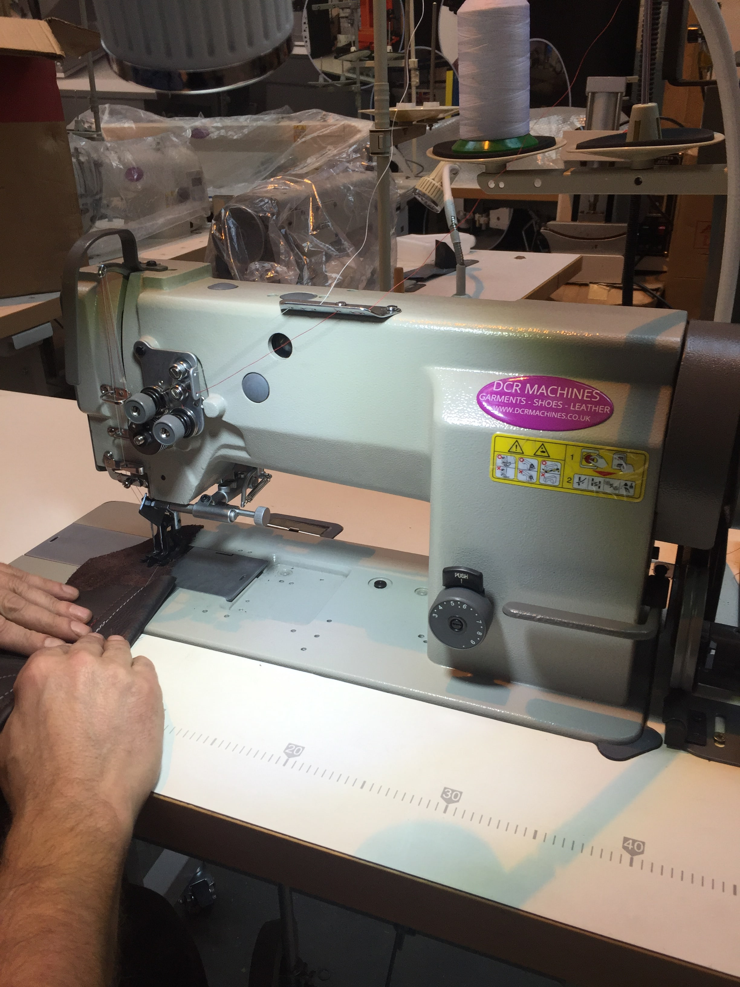 Photo of an DCR TNHD- Twin Needle Heavy Duty Flat Bed Industrial Sewing Machines