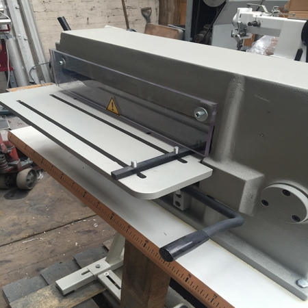 Photo of an DCR Strip Cutter- 400mm leather strap cutting machine Industrial Sewing Machines