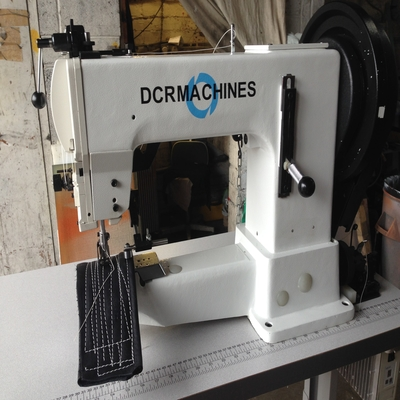 Photo of an DCR 205-370R heavy duty tirple feed cylinder arm industrial sewing machine Industrial Sewing Machines