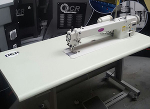 Photo of an DCR HFDD1- Single Needle Lockstitch Heavy Duty Long Arm Industrial Sewing Machines
