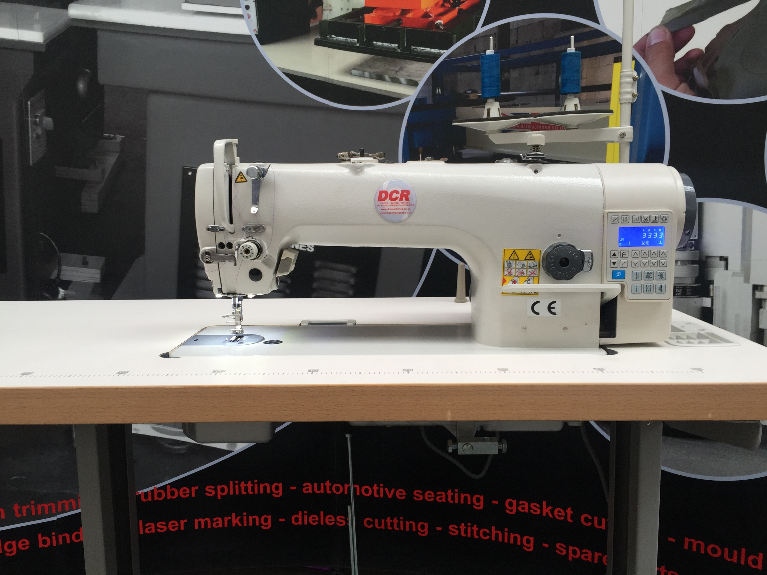 Photo of an DCR NFDD1- Needle Feed Direct Drive Single Needle Industrial Sewing Machines