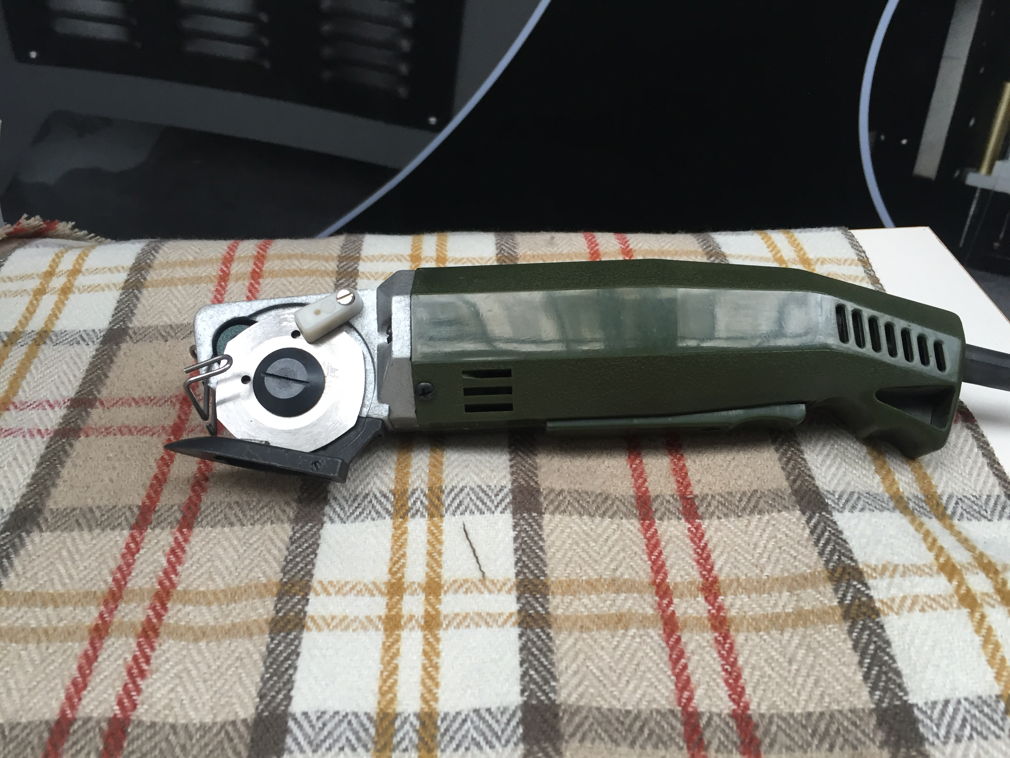 Photo of an DCR RKC50- Round Knife Cutter 50mm Blade Industrial Sewing Machines