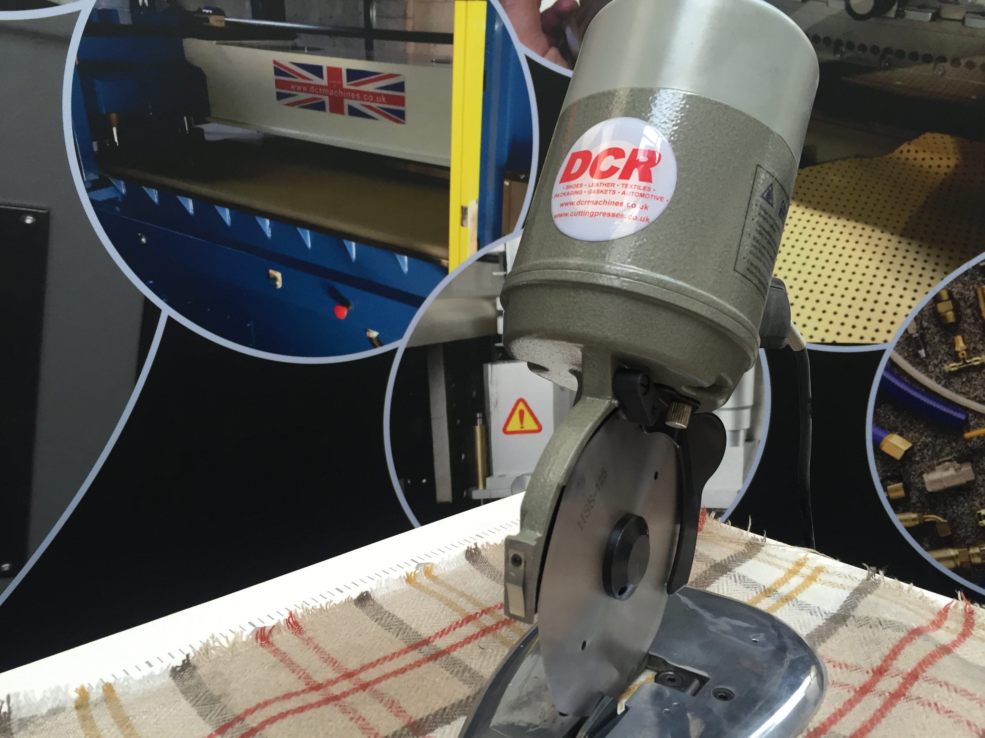 Photo of an DCR RKC100- Round Knife Cutter 100mm Blade Industrial Sewing Machines