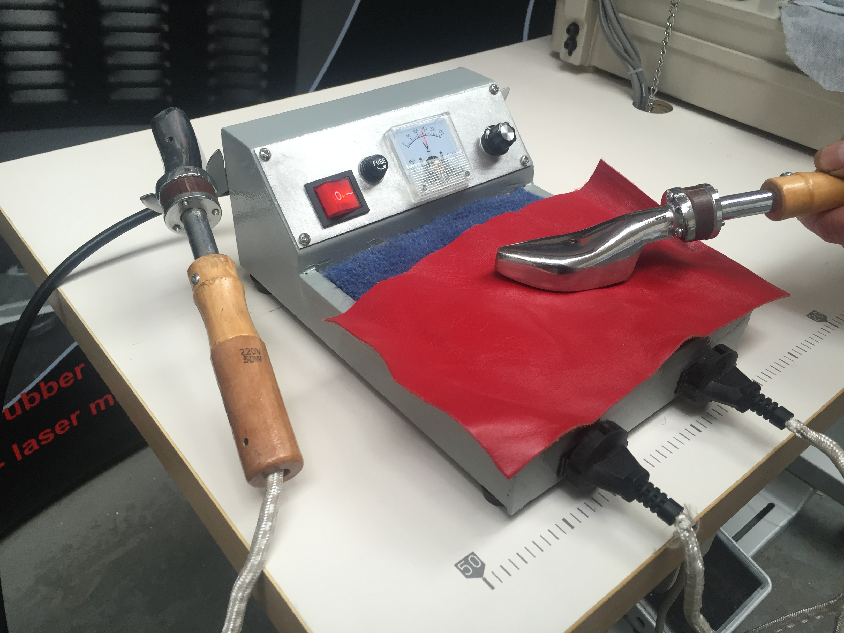 Photo of an DCR HI2 - Hand Ironing Machine - wrinkle chaser Industrial Sewing Machines