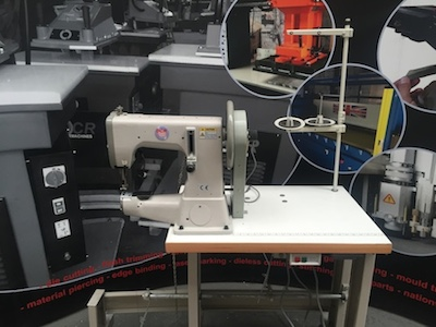Photo of an DCR 205-SCA- Short Cylinder Arm industrial sewing machine Industrial Sewing Machines