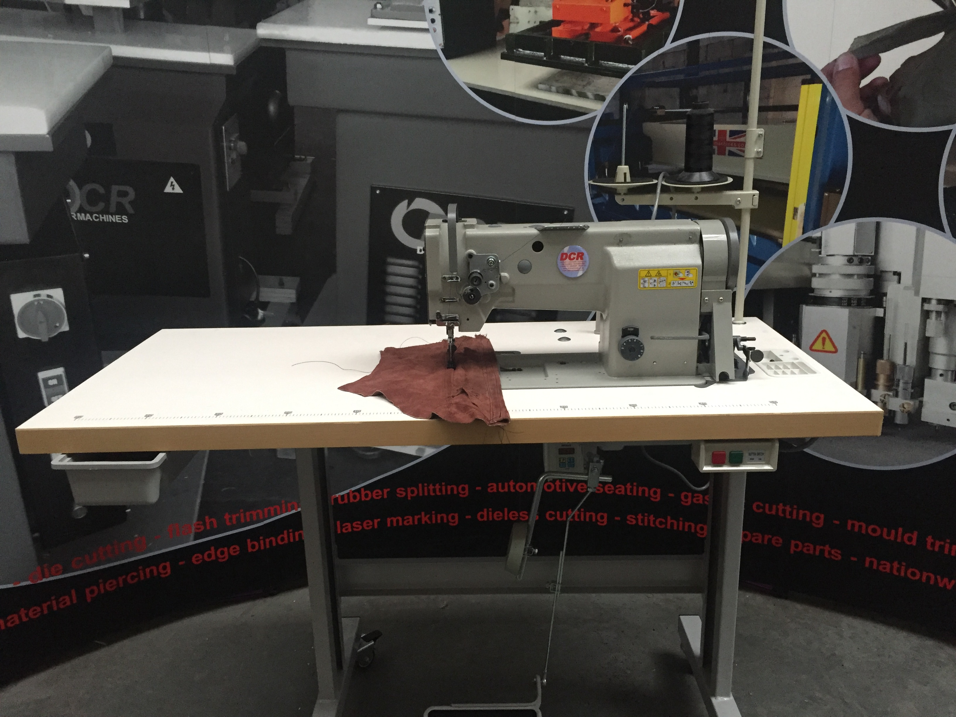Photo of an DCR SNHD- Single Needle Heavy Duty Industrial Sewing Machines