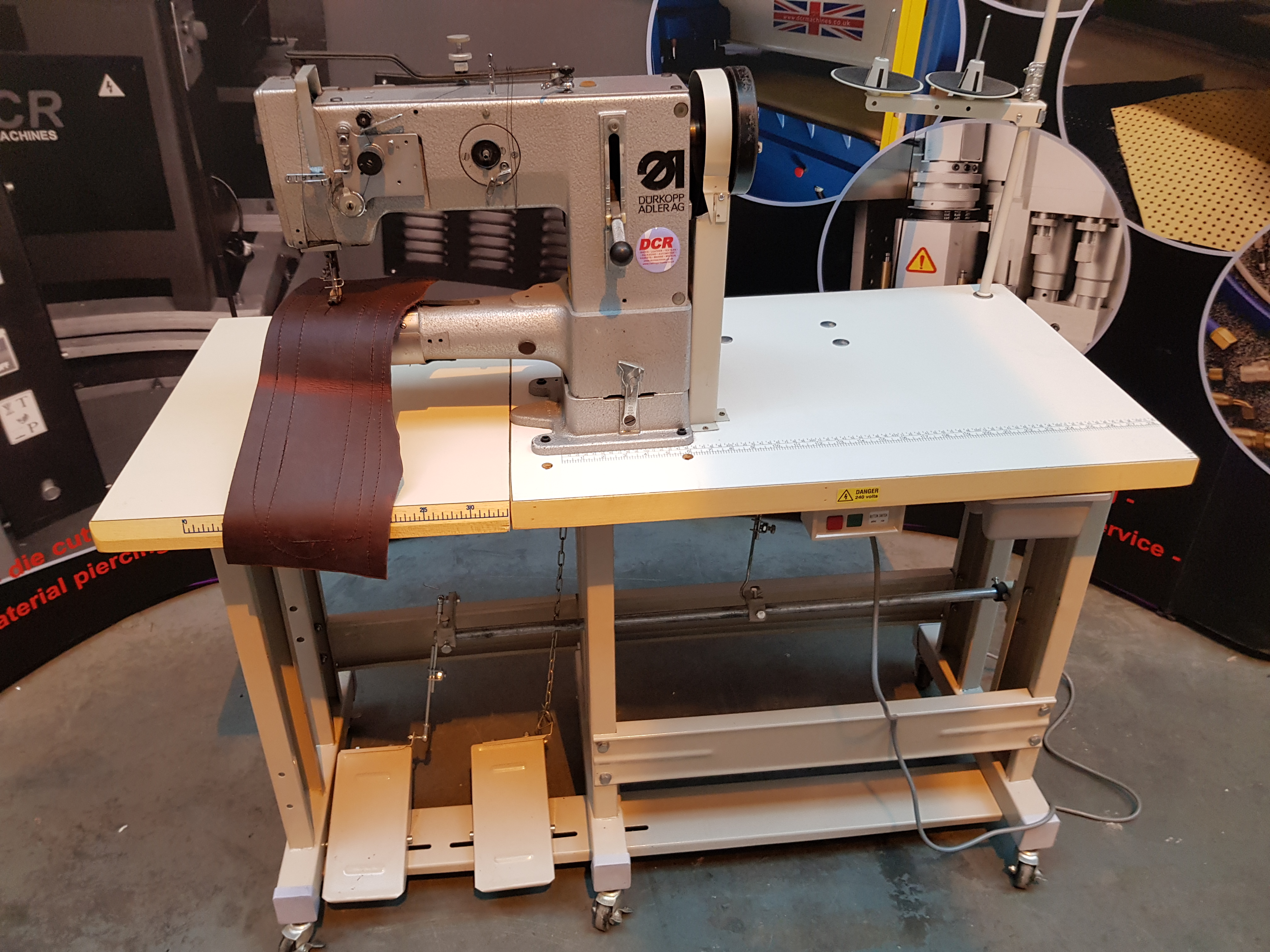 Photo of an DURKOPP ADLER 269 HEAVY DUTY CYLINDER ARM Industrial Sewing Machines