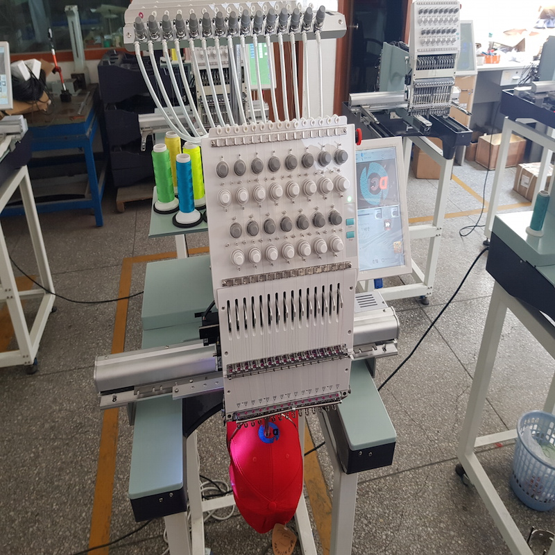 Photo of an DCR EMBR-15N - SINGLE HEAD CAP EMBROIDERY MACHINE 15 NEEDLE Industrial Sewing Machines
