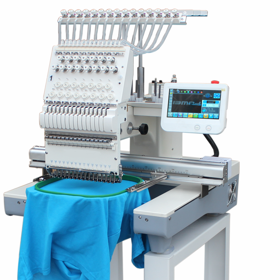 Photo of an DCR EMBR-15N - SINGLE HEAD CLOTHING EMBROIDERY MACHINE 15 NEEDLE Industrial Sewing Machines