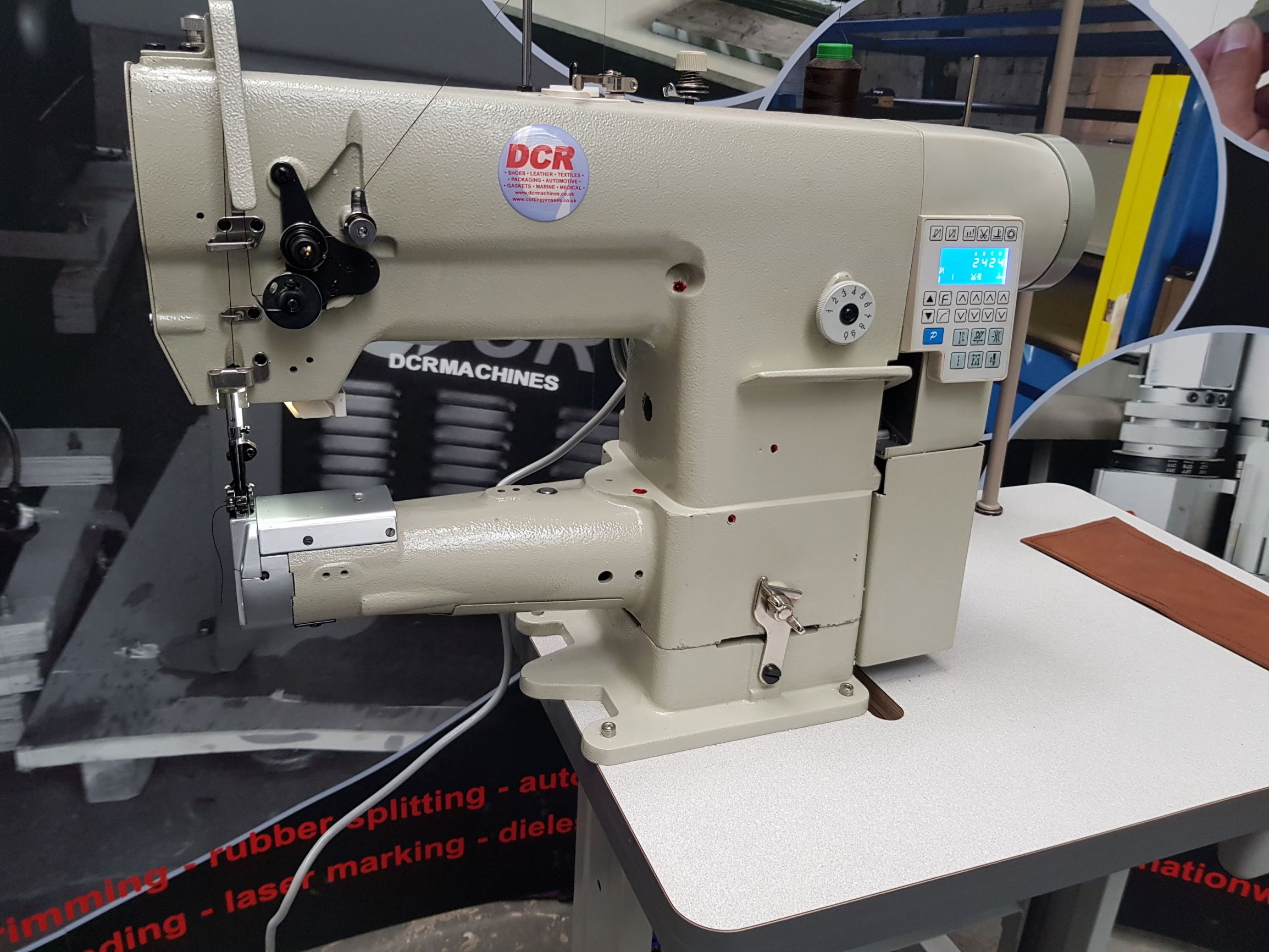 Photo of an DCR-269D Direct Drive Heavy Duty Cylinder Arm Industrial Sewing Machines