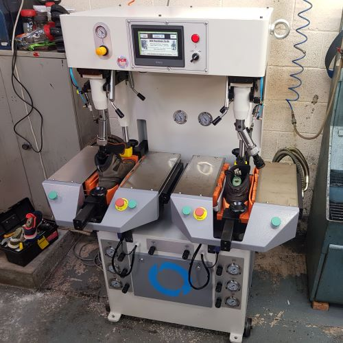 Photo of an DCR-350ZP HYDRAULIC SOLE PRESS Industrial Sewing Machines