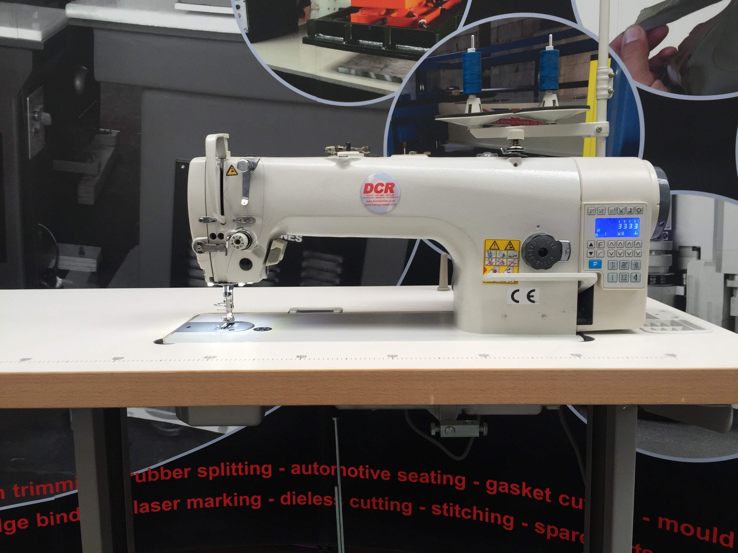 Photo of an DCR FBDD1- Single Needle Lockstitch Direct Drive PPE Industrial Sewing Machines