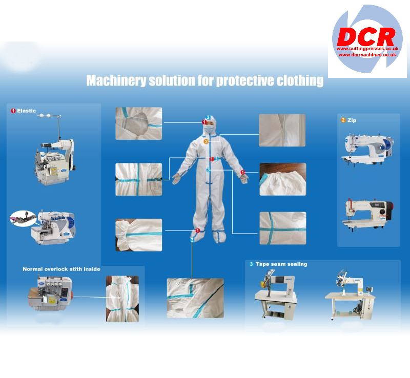 Photo of an MEDICAL SUIT SPECIFICATION DIAGRAM Industrial Sewing Machines